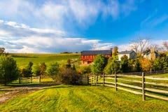 Mooi landbouwbedrijf in de landelijke Provincie van York, Pennsylvania royalty-vrije stock foto