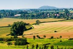 Mooi landbouwgrondlandschap royalty-vrije stock fotografie