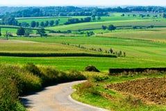 Mooi landbouwgrondlandschap stock afbeeldingen