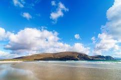 Mooi landelijk Iers de aardlandschap van het land van Ierland stock foto's