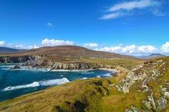 Mooi landelijk Iers de aardlandschap van het land van Ierland royalty-vrije stock afbeeldingen