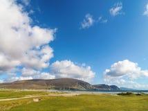 Mooi landelijk Iers de aardlandschap van het land van het noordwesten van Ierland stock afbeelding