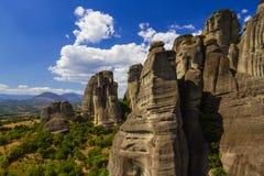 Mooi landschap bij de rand van de klippen van de vallei Stock Afbeeldingen