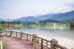 Mooi landschap bij meer Royalty-vrije Stock Foto's