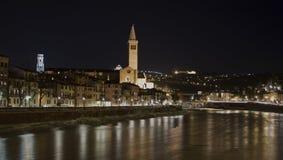 Mooi landschap bij nacht Royalty-vrije Stock Fotografie