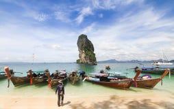 Mooi landschap bij Poda-Eiland in Krabi Thailand Stock Afbeeldingen