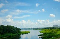 Mooi landschap, brug Stock Afbeelding