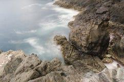 Mooi landschap in de Ajuy-Holen in Fuerteventura, Spanje royalty-vrije stock foto's