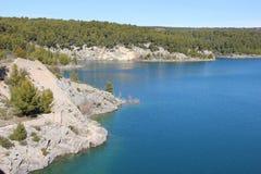 Mooi landschap in de Provence stock afbeelding