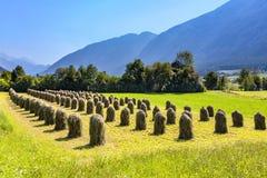 Mooi landschap in de tirolean Alpen stock afbeelding