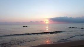 Mooi landschap in Griekenland bij zonsondergang stock videobeelden