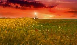 Mooi landschap in het zuiden van de Oekraïne Royalty-vrije Stock Afbeelding