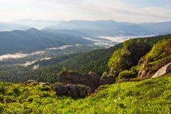 Mooi landschap - Kaukasische bergen Stock Afbeeldingen