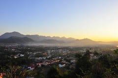 Mooi landschap in Luang Prabang royalty-vrije stock foto