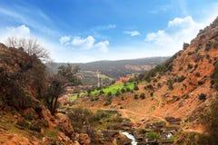 Mooi landschap in Marokko Stock Afbeelding