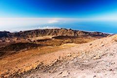 Mooi landschap met bergen Teide Stock Foto