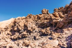 Mooi landschap met bergen Teide Stock Afbeelding