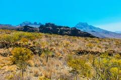 Mooi landschap met bergen Teide Royalty-vrije Stock Fotografie