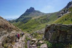 Mooi landschap met Pirineos-bergen royalty-vrije stock foto
