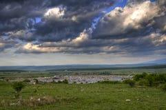 Mooi landschap met troepwerf Royalty-vrije Stock Foto's