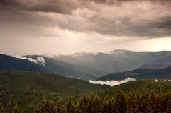 Mooi landschap na regen Stock Afbeeldingen