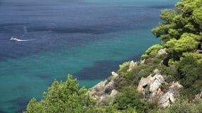 Mooi landschap op het eiland van Korfu - Griekenland stock footage