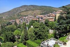 Mooi landschap in oud dorp, Toscanië, Italië royalty-vrije stock afbeeldingen