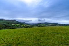 Mooi landschap in provincie Wicklow Ierland stock foto's