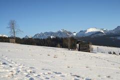 Mooi landschap in Tatra-bergen Stock Afbeeldingen