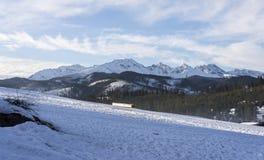 Mooi landschap in Tatra-bergen Stock Foto