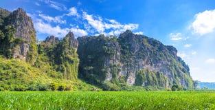 Mooi landschap van berg Stock Foto's
