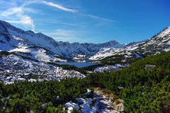 Mooi landschap van bergmeer Hoge tatras polen Royalty-vrije Stock Fotografie
