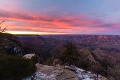Mooi Landschap van Grand Canyon bij susnset Stock Foto