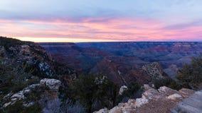 Mooi Landschap van Grand Canyon bij zonsondergang Stock Foto's
