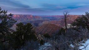 Mooi Landschap van Grand Canyon bij zonsondergang Stock Foto