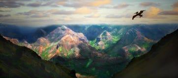 Mooi Landschap van het Eiland Kauai Hawaï Stock Foto