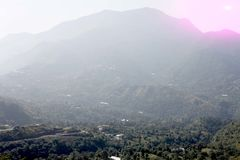 Mooi landschap van heuvelpost in India stock afbeeldingen