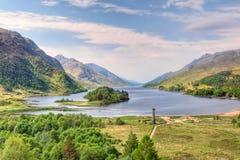 Mooi landschap van Loch Shiel, Schotland stock foto's