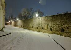 Mooi landschap van nacht Praag Stock Fotografie