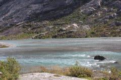 Mooi landschap van Noorwegen Bergen en Meer Royalty-vrije Stock Foto