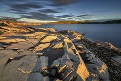 Mooi landschap van Noorwegen, Scandinavië, aard Stock Foto's