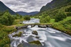 Mooi landschap van Noorwegen, Scandinavië, aard Stock Fotografie