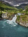 Mooi landschap van Noorwegen, Scandinavië, aard Stock Afbeeldingen