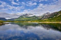 Mooi landschap van Noorwegen, Scandinavië, aard Royalty-vrije Stock Afbeelding