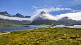 Mooi landschap van Noorwegen, Scandinavië, aard Royalty-vrije Stock Foto