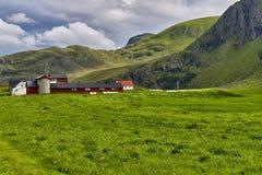 Mooi landschap van Noorwegen, Scandinavië, aard Royalty-vrije Stock Afbeeldingen