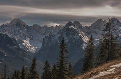 Mooi landschap van Tatra-bergen Stock Afbeeldingen