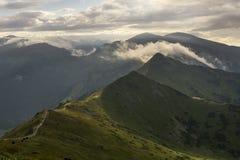 Mooi landschap van Westelijke Tatra-bergen Stock Foto