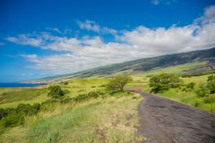 Mooi landschap van Zuid-Maui, Eiland Hawaï Stock Afbeelding