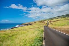 Mooi landschap van Zuid-Maui, Eiland Hawaï Stock Foto's